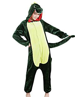 Kigurumi פיג'מות דינוזאור פסטיבל/חג הלבשת בעלי חיים Halloween ירוק טלאים מינק הקטיפה Kigurumi ל זכר נקבה יוניסקסהאלווין (ליל כל הקדושים)