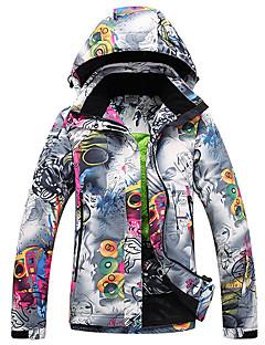 スキーウェア スキー/スノーボードジャケット 女性用 冬物ウェア ポリエステル 花/植物 冬物ウェア 保温 防風 耐久性 キャンピング&ハイキング スノースポーツ ダウンヒル スノーボード 冬