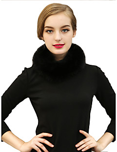 Damen Retro Kunstpelz Schal,Infinity-Schal einfarbig Winter