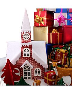 Prázdninové šperky Červená / Zelená - bílá Papír Cosplay doplňky Vánoce
