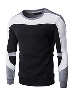 Herren Pullover Lässig/Alltäglich Sport Einfarbig Rundhalsausschnitt Mikro-elastisch Baumwolle Polyester Langarm Herbst Winter