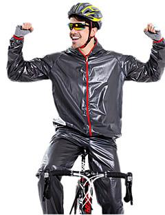 חולצה וטייץ לרכיבה יוניסקס שרוול ארוך אופניים עמיד למים עמיד מוגן מגשם מעיל גשם מדים בסטים PVC קלאסי אופנתי אביב קיץ סתיו חורףמחנאות