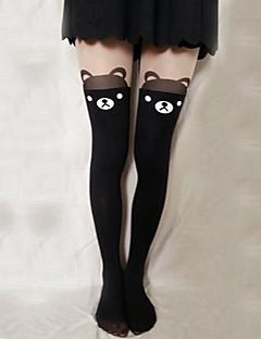 Ponožky a punčochy Sweet Lolita Lolita Lolita Černá Lolita Příslušenství Punčocháče Tisk Pro Dámské Samet