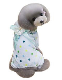 Cães Casacos Camisola com Capuz Macacão Roupas para Cães Inverno Bolinhas Fofo Mantenha Quente Bege Azul