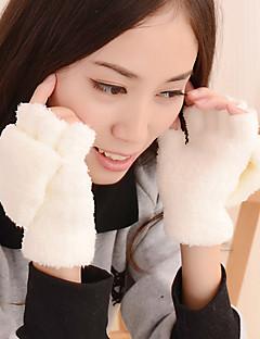 női kötöttáru tiszta szín kivehető bárány szőrme ügyében csukló hossza aranyos téli kesztyű