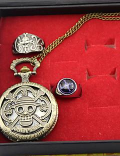 שעון / אביזרים נוספים קיבל השראה מ One Piece Edward Newgate אנימה אביזרי קוספליי שעון / טבעת מוזהב סגסוגת