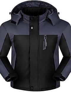 Unisexo Jaqueta de Trilha Prova-de-Água Térmico/Quente Confortável Blusas para Corrida Primavera Inverno Outono XL XXL XXXL XXXXL 5XL