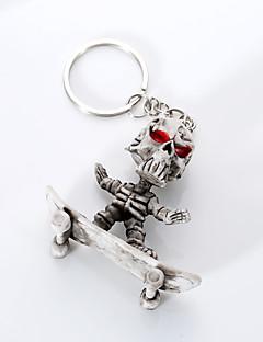 Europa i Sjedinjene Države visokog stupnja kvalitete ključ lanac kreativni butik gume skateboard kostur visi privjesak za ključeve