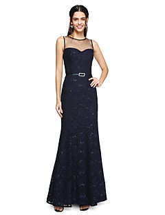 LAN TING BRIDE Ankle-length Jewel Bridesmaid Dress - Sparkle & Shine Sleeveless Lace