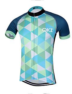 QKI Conjunta Pro Cycling Jersey Men's Short Sleeve Bike Breathable / Quick Dry / Anatomic Design / Front Zipper / Reflective Strips