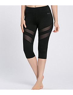 Yoga Pants 3/4 Tights BottomsBreathable Quick Dry Sweat-wicking Soft Comfortable Compression Anti-skidding/Non-Skid/Antiskid Limits