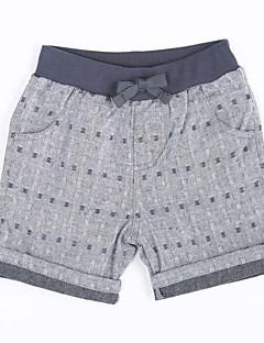 Dreng Shorts Casual/hverdag Ensfarvet-Bomuld Sommer
