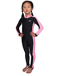 Lasten Tyttöjen Poikien 1mm Kokokehon märkäpuku Dive Skins Ultraviolettisäteilyn kestävä Chinlon Märkäpuku Pitkähihainen Rash guard