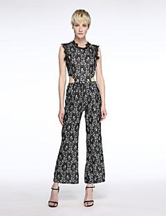 Uden ærmer Kvinders Vintage / Street Jumpsuits Mikroelastisk Polyester