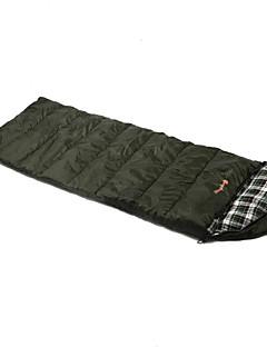 Saco de dormir Retangular Solteiro (L150 cm x C200 cm) -15-20 Algodão Algodão T/CX80 Caça Equitação Campismo Viajar ExteriorÁ Prova de
