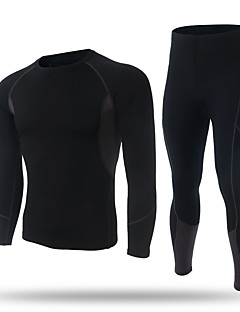 XINTOWN Men's Baselayer Long Sleeves Thermal / Warm Quick Dry Fleece Lining Breathable Compression Held-In Sensation Comfortable