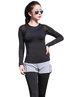 Women's Long Sleeve Running Tights Rash guard Breathable Soft Comfortable Spring Summer Fall/Autumn Winter Sports WearYoga Exercise &