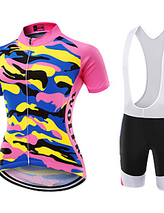 WOLFKEI Summer Cycling Jersey Short Sleeves BIB Shorts Ropa Ciclismo Cycling Clothing Suits #wk119