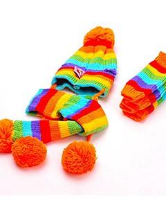 Gatos / Cães Meias / Bandanas e Chapéus Amarelo / Rosa / Colorido Roupas para Cães Inverno / Primavera/Outono Blocos de corFofo /