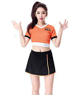 Cosplay Costumes Party Costume Cheerleader Costumes Career Costumes Festival/Holiday Halloween Costumes Solid Top Skirt Halloween Carnival