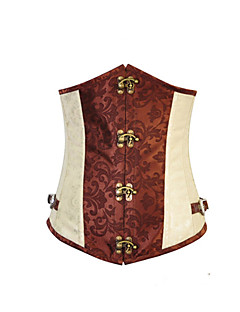 Cosplay Costumes More Costumes Festival/Holiday Halloween Costumes Corset T-Back Halloween Carnival Female Polyester Satin