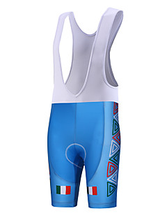 Sports QKI Italy Cycling Bib Shorts Men's Breathable / Quick Dry / Anatomic Design / Wearable / 3D Pad / Sweat-wicking Bike Bib ShortsPolyester