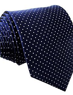 Masculino Gravata Azul,Vintage / Fofo / Festa / Trabalho / Casual Poás Raiom Todas as Estações