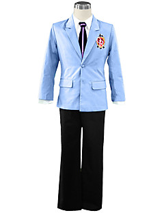 Inspirado por High School de Host Club Fantasias Anime Fantasias de Cosplay Ternos de Cosplay Cor Única Casaco Camisa Calças Gravata Para