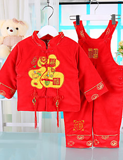 Unisex Casual/Daily Embroidered Sets,Cotton Winter Long Sleeve Clothing Set