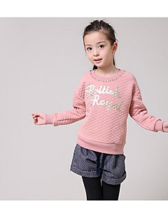 Girl Casual/Daily Solid Hoodie & Sweatshirt,Rayon Others Winter Long Sleeve