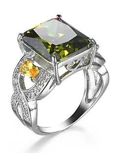 Δαχτυλίδι Cubic Zirconia Ζιρκονίτης Cubic Zirconia Κράμα Πράσινο Κοσμήματα Γάμου Causal 1pc