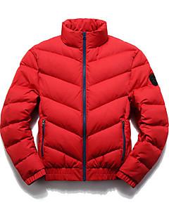 Pánské Standardní Dlouhý kabát Jednoduché Běžné/Denní Jednobarevné-Kabát Polyester Polypropylen Dlouhý rukáv Košilový límec