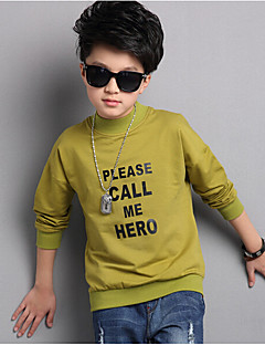 Boy Casual/Daily Print Hoodie & Sweatshirt,Cotton Polyester Spring Fall Long Sleeve Regular