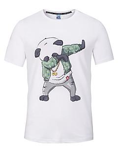 Tee-shirt Hommes,Imprimé Sortie Décontracté / Quotidien Vacances Mignon Chic de Rue Actif Printemps Eté Manches Courtes Col Arrondi Blanc
