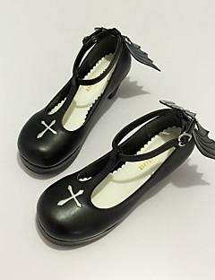 Zapatos Gosurori Amaloli Lolita Clásica y Tradicional Punk Wa Inspiración Vintage Elegant Victoriano Princesa Tacón alto Lazo Cosecha 7.0