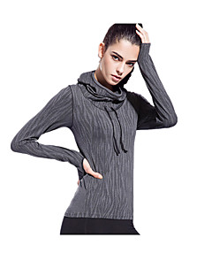 Women's Long Sleeve Running Tops Breathable Quick Dry Reduces Chafing Ultra Light Fabric Spring Summer Fall/Autumn Winter Sports WearYoga