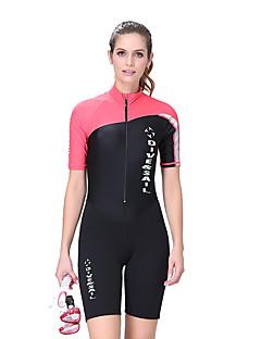 Dive & Sail® Mulheres 1,5 mm Mergulho Skins Macacão de Mergulho CurtoImpermeável Respirável Térmico/Quente Secagem Rápida Resistente