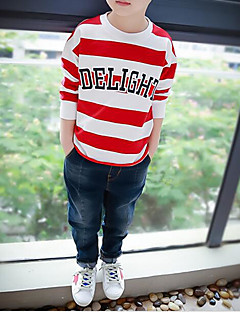 Unisex Casual/Daily Striped Hoodie & Sweatshirt,Cotton Summer Spring Long Sleeve