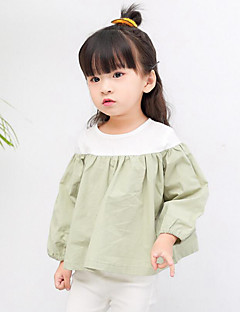 Girl Casual/Daily Solid Shirt,Cotton Spring Long Sleeve