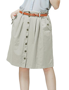 Women's Casual/Cute Inelastic Thin Skirts (Cotton/Nylon)