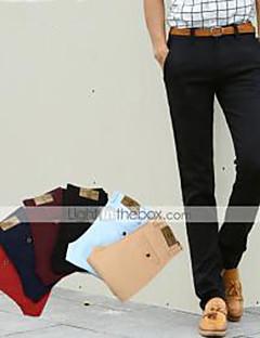 남성의 수트 퓨어 캐쥬얼 면 블랙 / 블루 / 레드