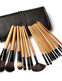 18 Makeup Brushes Set Synthetic Hair Professional Wood Face Eye Others