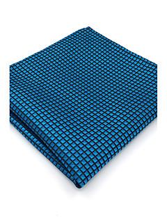 Fular-Dla mężczyzn-Vintage Urocza Imprezowa Do biura Na co dzień-Rayon-Jendolity kolor-Niebieski