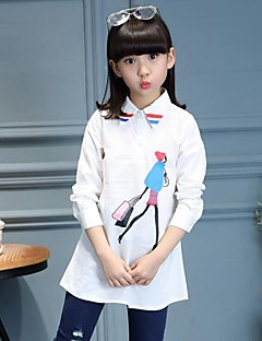 Girl Casual/Daily Print Tee,Cotton Spring Long Sleeve