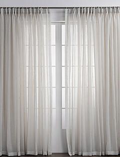 zwei Panele Window Treatment Rustikal , Solide Schlafzimmer Leinen-Polyestergewebe Stoff Gardinen Shades Haus Dekoration For Fenster