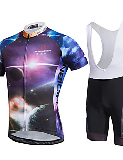 AOZHIDIAN Summer Cycling Jersey Short Sleeves BIB Shorts Ropa Ciclismo Cycling Clothing Suits #AZD082