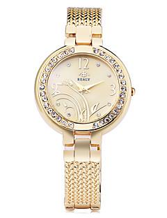 Dame Moteklokke Armbåndsur Simulert Diamant Klokke Imitasjon Diamant Quartz Legering Band Blomst Elegante klokker Sølv Gylden Rose Gull