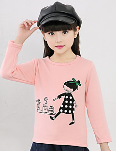 Girl's Cotton Fashion Spring/Winter/Autumn Casual/Daily Cartoon Print Long Sleeve T-shirt Children Under Shirt Blouse
