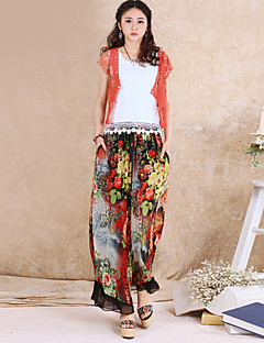 Kvinders Sofistikerede Løse Bukser Uelastisk Polyester