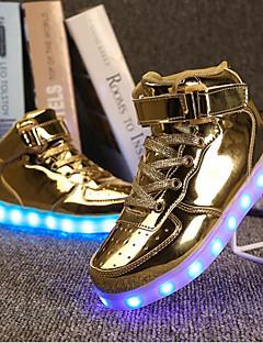 Light Up Shoes-Lapos-Női cipő-Tornacipők-Szabadidős Alkalmi Sportos-Szintetikus-Ezüst Arany